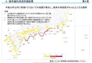 南海トラフ津波高5m確率