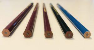 鉛筆の断面
